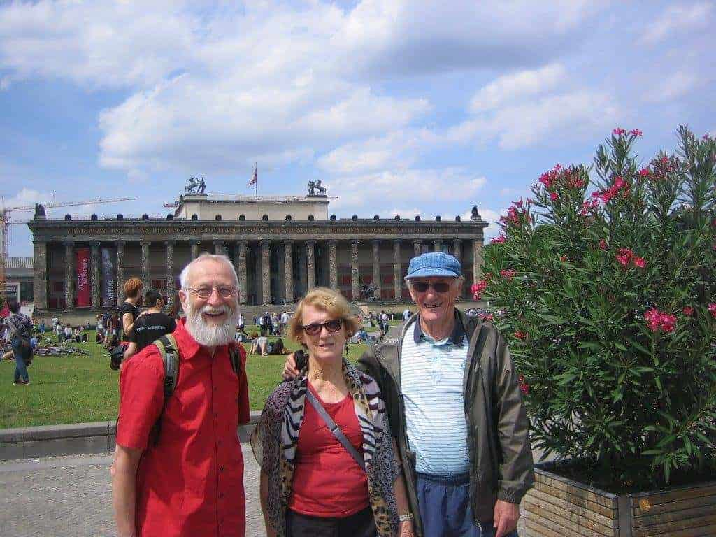 In front of the Reichstag in Berlin